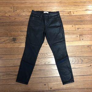 Gap Women's Black Coated Jeans